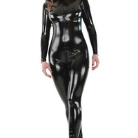 Busty Latex Look PVC Catsuit