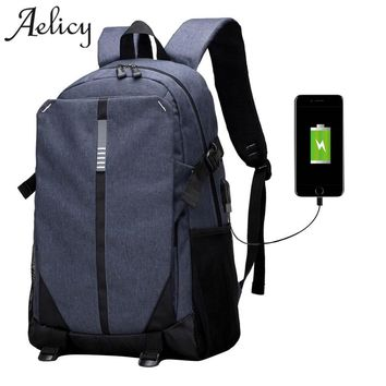 Luxury Canvas Backpack / Laptop Bag plus USB Charging