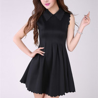 lapel short sleeve dress Unique style fashion ghl0146