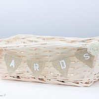 Ivory Shabby Wedding Basket with Cards Banner Reception Decor