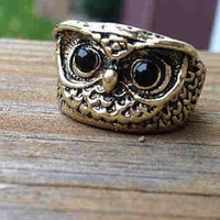 Owl Ring- Silver or Bronze