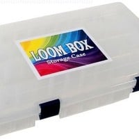 Official Loom Box [Holds Up to 5,000 Rubber Bands & Bracelet Making Accesories!] Perfect for Rainbow Loom