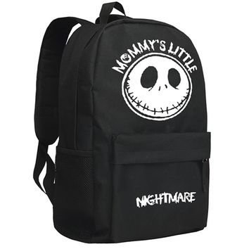 The Nightmare Before Christmas Backpack American Movie Skull Jack Backpack Children School Bag Christmas Gift