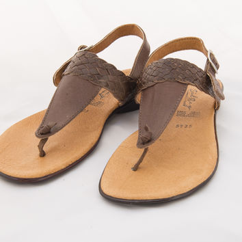 Mexican Huarache Sandals - Women's Almendra Style Brown