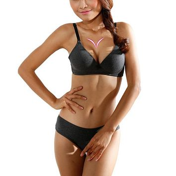 Women Sexy Back Closure Three Quarter Cup Bra 0946-17