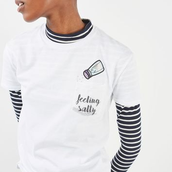 Salty Glitter Pocket T-Shirt by Tee & Cake | Topshop