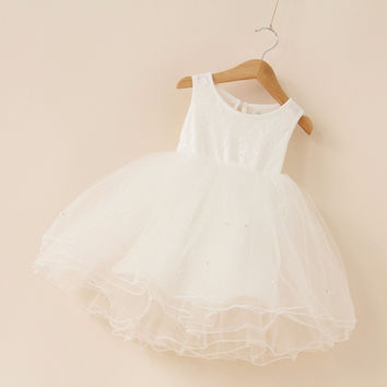 Girls Dresses Summer Tutu Princess Baby Flower Costume Lace Tulle Baby Casual Party Dress For 2-9 Years Kids Dresses For Girls