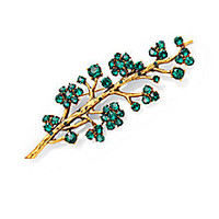 Oscar de la Renta - Crystal Branch Brooch - Saks Fifth Avenue Mobile