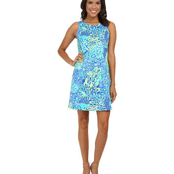 Lilly Pulitzer Cathy Shift Sea Blue Lillys Lagoon - 6pm.com