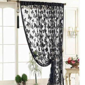 LMF78W 1*2meter butterfly Tassel room door window curtain Divider for Birthday Wedding Party Decoration gift craft DIY background favor