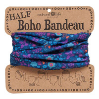 Blue & Purple Half Boho Bandeau by Natural Life