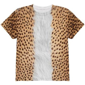 CREYCY8 Halloween Cheetah Costume All Over Youth T Shirt
