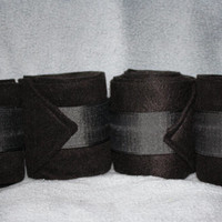 Black Polo Wraps (set of four)