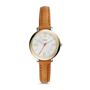 Jacqueline Mini Tan Leather Watch