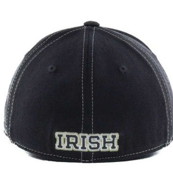 "Top of the World Notre Dame Fighting Irish ""NCAA Slate"" Fitted Hat L/XL"