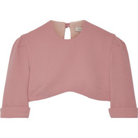Emilia Wickstead - Dian cropped wool-crepe top