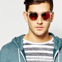 Selected Bahamas Round Sunglasses at asos.com