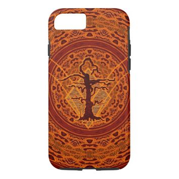 Light Orange Abstract Old Withered Tree iPhone 7 Case