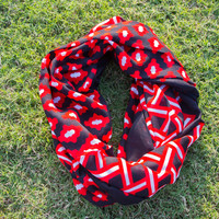 Game Day Scarf - Red/Black