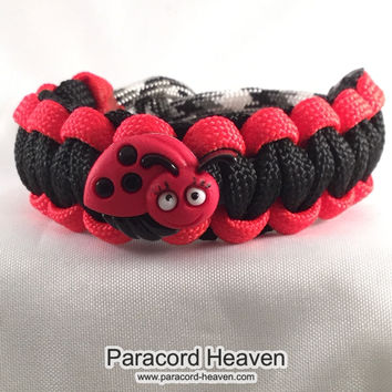 Missy the Lady Bug - Children Paracord Heaven Survival Bracelet with Knot Closure