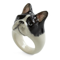 Constant Companion Ring in French Bulldog | Mod Retro Vintage Rings | ModCloth.com