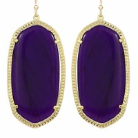 Danielle Earrings in Purple Jade - Kendra Scott Jewelry