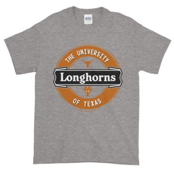 Texas Longhorns: Men's Lager Label-Inspired Short-Sleeve T-Shirt; up to 5XL