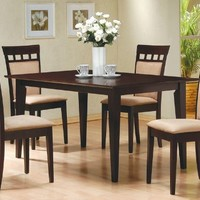 5-Piece Dining Set in Rich Cappuccino - Coaster
