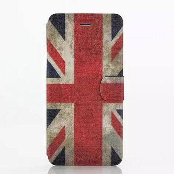United Kingdom Flag Leather Case Cover for iPhone 6S 6 Plus Samsung Galaxy S6-170928