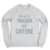 Mascara and Caffeine-Unisex Heather Grey Sweatshirt
