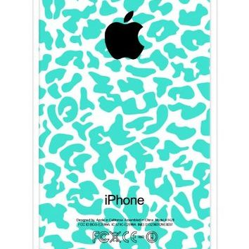iZERCASE Turquoise Cheetah Pattern RUBBER iPhone 5C Case - Fits iPhone 5C T-Mobile, Verizon, AT&T, Sprint and International