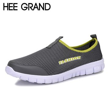 HEE GRAND 2017 Summer Casual Shoes Male Lazy Network Shoes Men Foot Wrapping Breathable Shoes Drop Shipping Size 46 XMR199