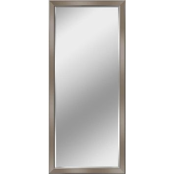Modern Brush Nickel Leaner Mirror (8934) - Illuminada