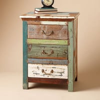 ONE OF A KIND PAINTBOX SIDE TABLE