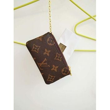 LV Louis Vuitton Monogram Canvas Small Coin Purse Key Pouch