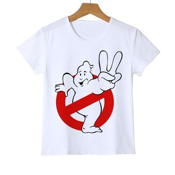 2018 Summer Funny Movie Ghostbusters Movie Kids T-shirt Boys/Girls/Baby Short Sleeve Funny T Shirts Tee Shirts clothing Z26-1