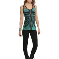 Teenage Runaway Feather Rib Cage Top