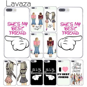 Lavaza Princess My Love Pair Best Friends Emoji Phone Case for Apple iPhone XR XS Max X 8 7 6 6S Plus 5 5S SE 5C 4S 10 Cover