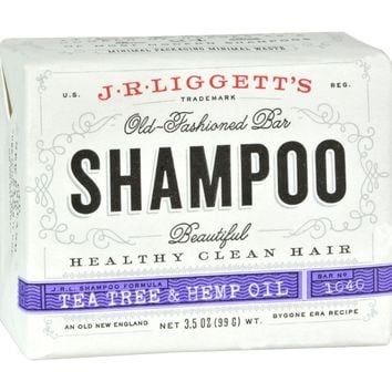 J.R. Liggett's Shampoo Bar - Tea Tree and Hemp Oil Formula - 3.5 oz
