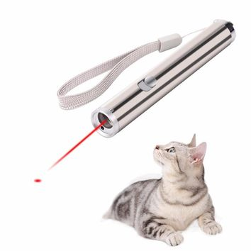 2 in 1 Interactive LED Light Cat Chaser Toy Funny Pet Dog LED Light Pointer Exercise Chaser Toy Training Tool