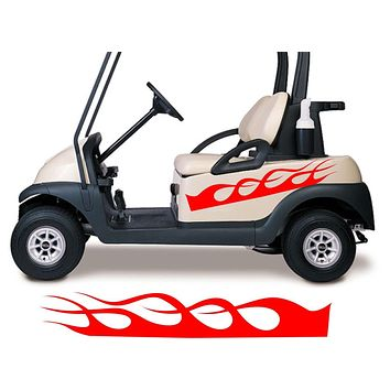 Golf Cart Go Kart Decals Side By Side Stickers Graphics Tribal Flames Stripes GG12