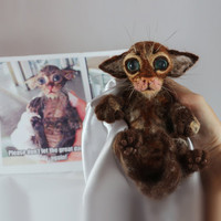 Custom Pet Portrait Miniature Soppy Wet Cat Sorry Cat Little Copy Your Pet Needle Felt Art Cat Doll Animal Decorating Shelves Felting Dreams