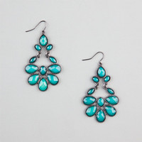 Full Tilt Facet Teardrop Earrings Teal Blue One Size For Women 20779524601
