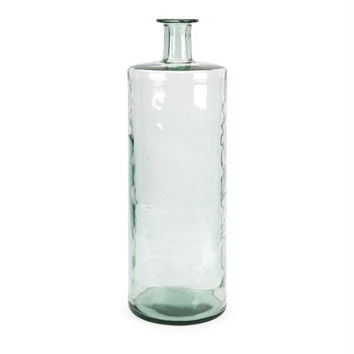 Recycled Vase - Clear With Blue-green Tint