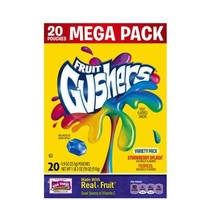 Betty Crocker Fruit Gushers Strawberry Splash/Tropical Fruit Flavored Snacks Variety Pack, 0.9 oz, 20 count - Walmart.com