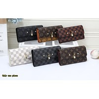 LV Hot Selling Lady's Colour-matched Printed Small Wallet Handbag