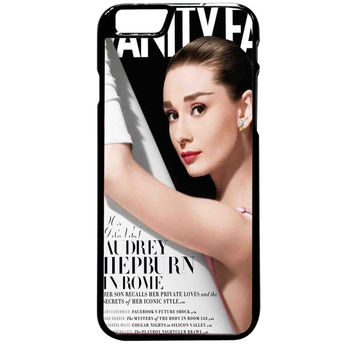 Vanity Fair Inspired Audrey Hepburn For iPhone 6 Plus Case *ST*