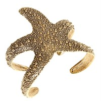 Gold Starfish Cuff