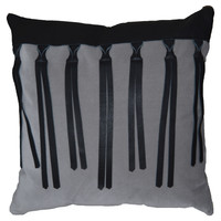 Leather Fringe Aline PIllow