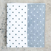 Yoshii Polka Dot Chambray Bath Towel